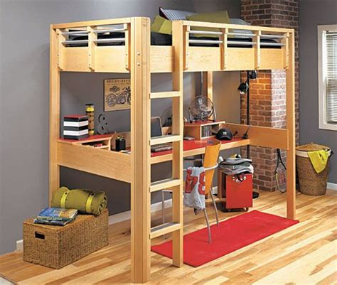 how to make a loft bed with desk underneath woodworking
