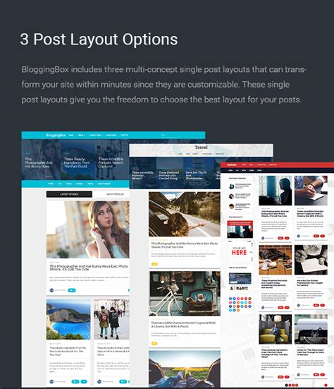 wordpress layout options bloggingbox multipurpose wordpress blogging theme