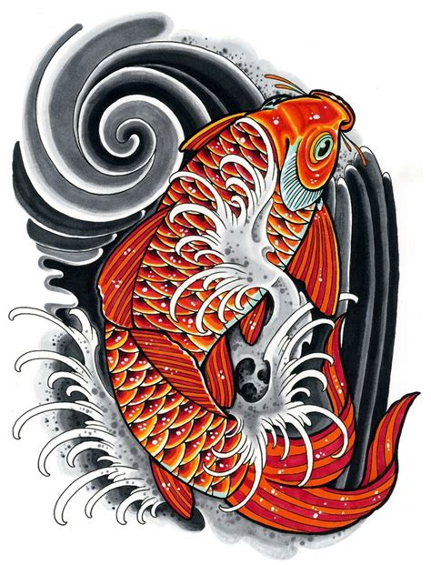 tattoo art koi fish koi drawing inspired by japanese tattoo art done with
