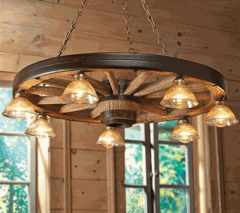 Large Wagon Wheel Chandelier With Downlights Wagon Wheel Lighting Fixtures