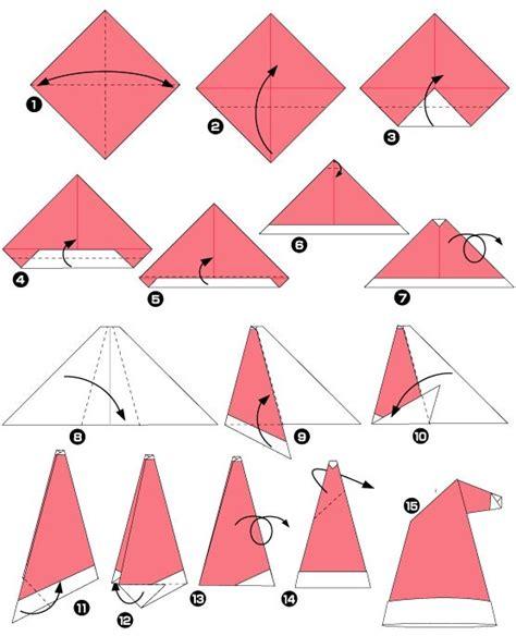 Simple Origami Hat - diagramme d origami de bonnet origami