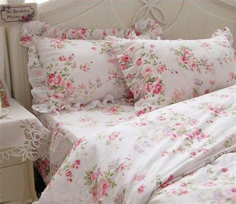 shabby chic pretty roses garden duvet cover bedding set