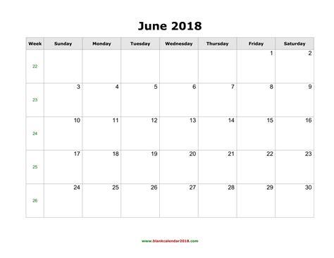 free printable calendar june 2018 template free printable calendar
