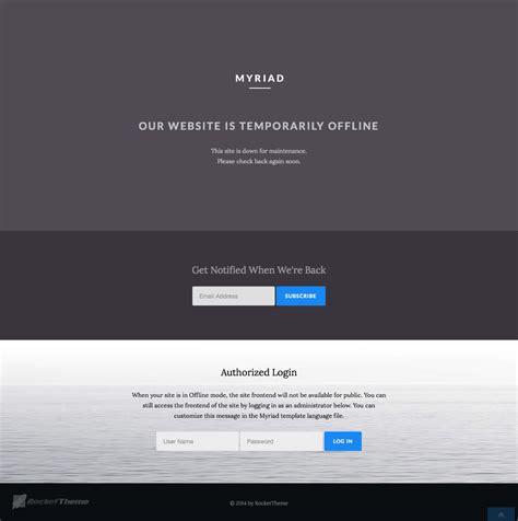 wordpress theme generator offline offline page myriad wordpress demo