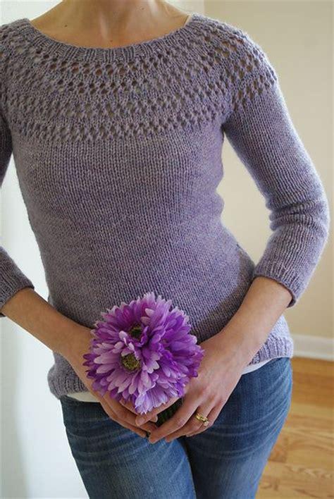 yoke knitting pattern eyelet yoke sweater pattern by spainhower yarny