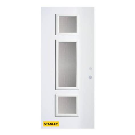 32 Inch Exterior Door Stanley Doors 32 Inch X 80 Inch Marjorie Screen 3 Lite Pre Finished White Left Inswing