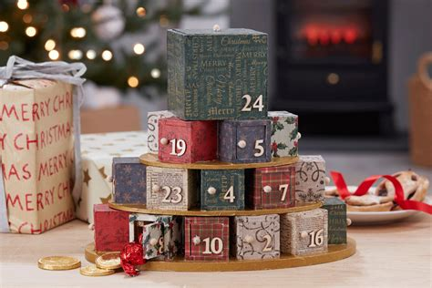 hobbycraft decoupage how to make a papered present stack advent hobbycraft