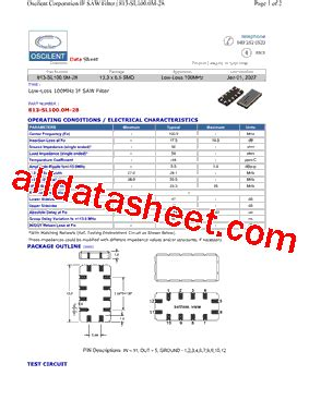 datasheet of transistor sl100 813 sl100 0m 28 datasheet pdf oscilent corporation
