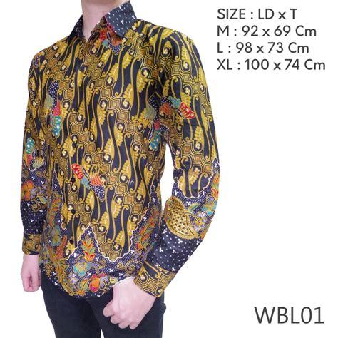 Baju Batik Lengan Panjang Slim Fit by Wayang Batik Slim Fit Modern Lengan Panjang Hitam Wbl01