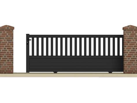 echelle de decoration 1227 portail coulissant quot pluton quot 4 05 m aluminium coloris