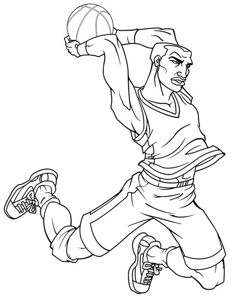 coloring pages of basketball players of the nba nba coloring pages az coloring pages