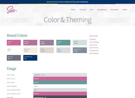 color themes sass 17 best images about ux style guides on pinterest ui