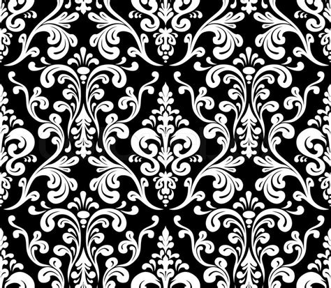 vector background pattern black and white vector seamless elegant damask pattern black and white