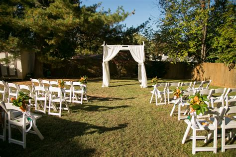 simple outdoor wedding ceremony setup decor from from