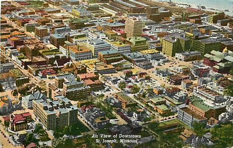 aerial view  downtown st joseph mo  love st joseph mo