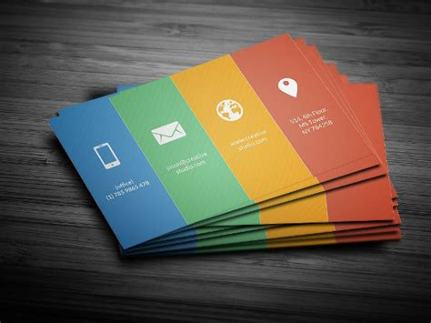 Color Business Card Template by 23 Metro Business Card Templates Free Premium