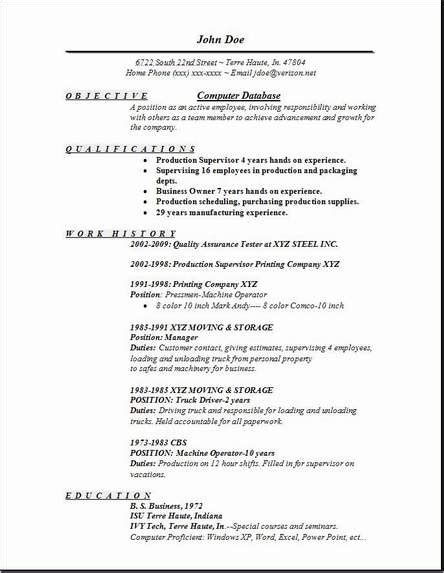 Resume Database by Computer Database Resume Occupational Exles Sles