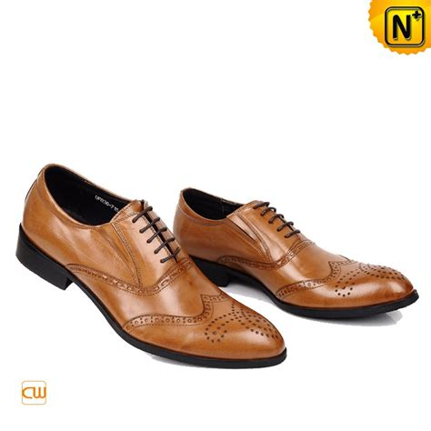 brogue shoes mens italian leather brogue shoes brown cw764076