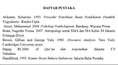 penulisan daftar pustaka berdasarkan eyd penulisan daftar pustaka poetra blog s