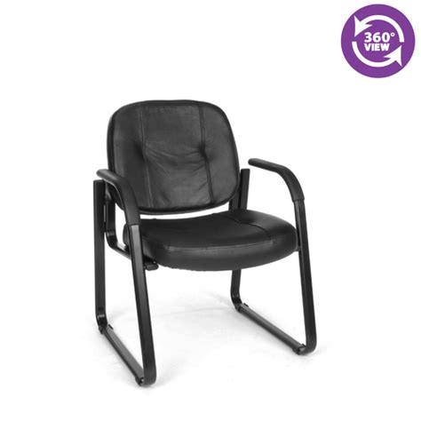 ofm leather guest chair fmo 503l reception chairs