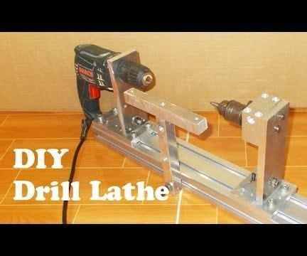 homemade wood mini lathe  hand drill carpentry