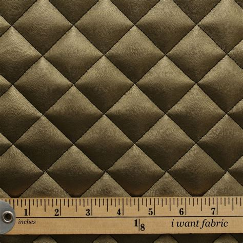Interior Upholstery Fabric Quilted Leather Padded Cushion Faux Leather