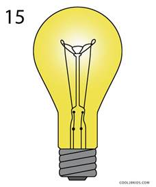 how to draw a lightbulb step by step pictures cool2bkids