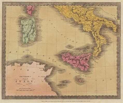 the of southern part two david h burr quot southern part of italy quot 1835 philadelphia