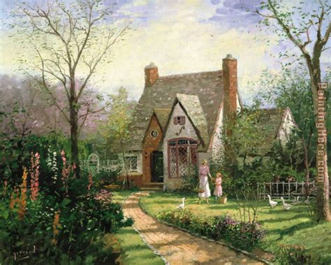 The Cottage Kinkade The Cottage Painting Anysize 50