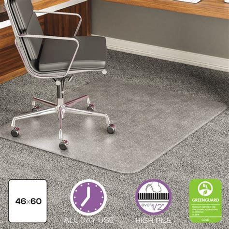 carpet chair mat rectangular 46 x 60 deflecto execumat 46 x 60 chair mat for high pile carpet