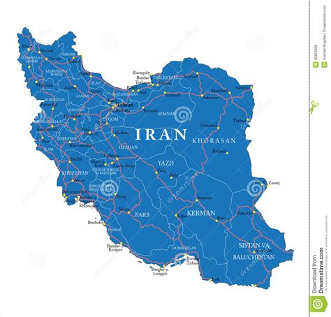 iran political map stock photo image