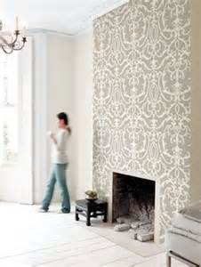 wallpaper just the chimney breast solid colour on other