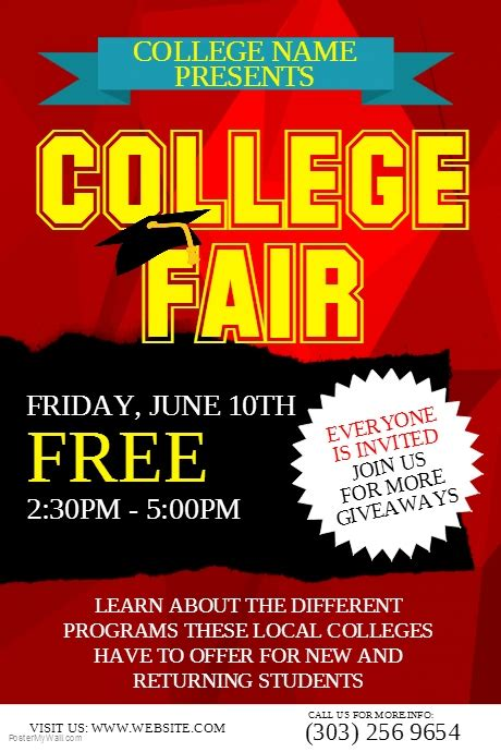 College Fair Flyer Template Postermywall College Fair Flyer Template
