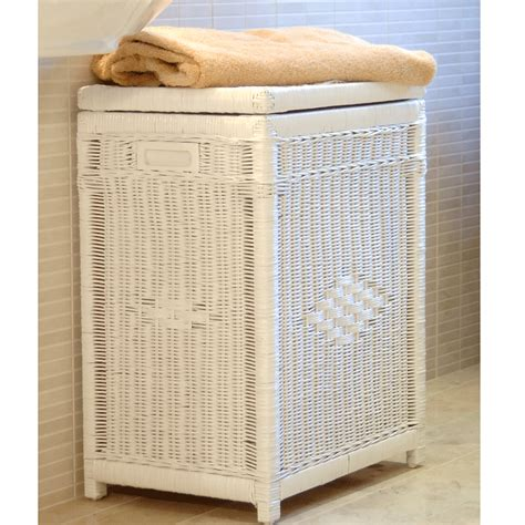 white laundry with lid white wicker laundry basket white linen basket