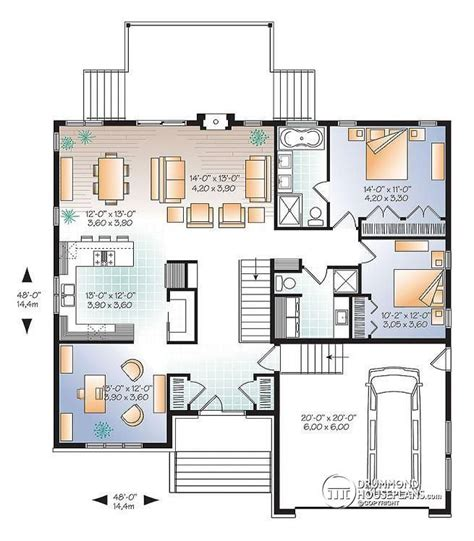modern bungalow with remarkable layout more information on this house plan here http www