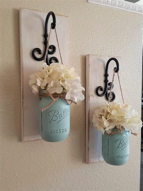 jar wall decor country chic wall by countryhomeandheart