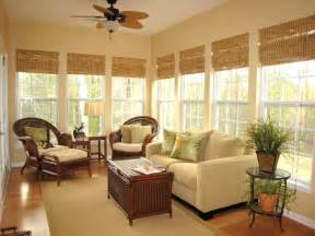 Windows Sunroom Decor Classic Bamboo Shades Window Treatments Ideas For Curtains Blinds Valances Hgtv