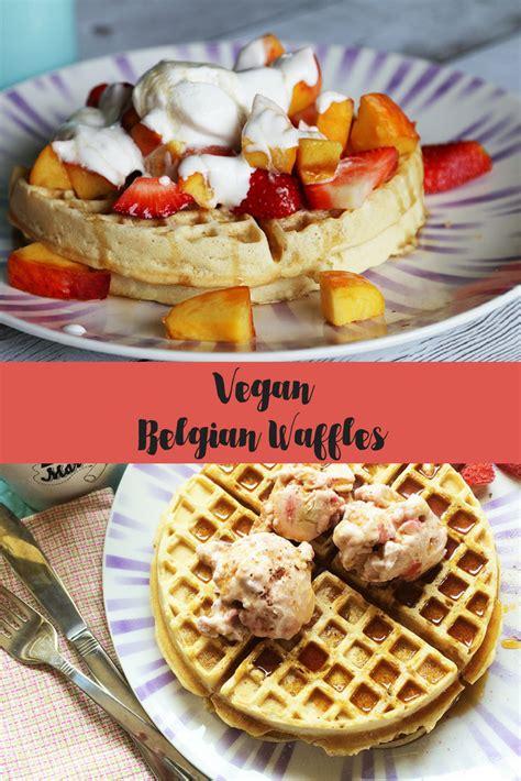 vegan belgian waffles recipe being tazim
