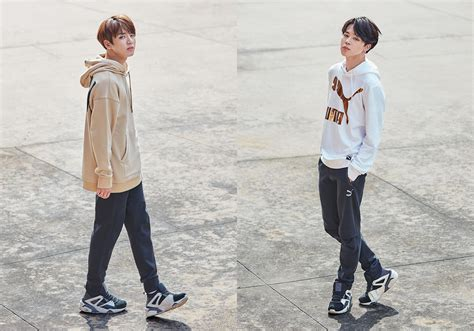 bts x puma indonesia cf bts x puma bog sock celebrity photos onehallyu