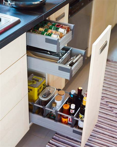 kitchen cabinet pull out storage 67 cool pull out kitchen drawers and shelves shelterness