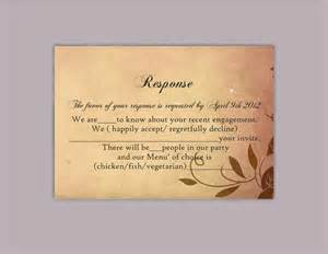 rsvp template for wedding diy rustic wedding rsvp template editable word file