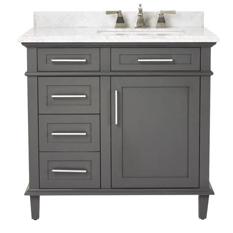 Home Decorators Bathroom Vanities by Home Decorators Collection Sonoma 36 In Vanity In Dark