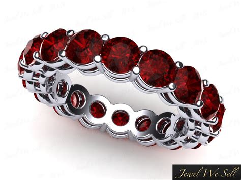 Ruby 6 45ct 6 45ct cut ruby shared prong gallery eternity band
