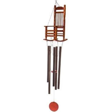 Rocking Chair Wind Chime by Hang This Clever Stained Wood Rocking Chair Wind Chime