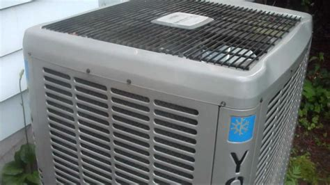 york affinity series   seer  ton central air conditioner running    humid day