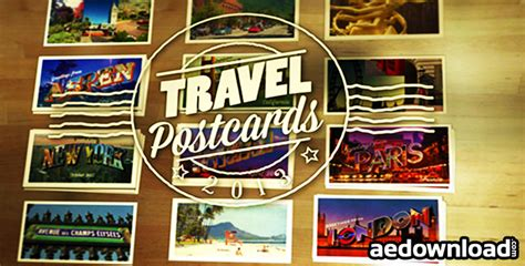 after effects free travel templates travel postcards project for after effects videohive