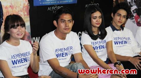 foto michelle ziudith dalam film remember when michelle ziudith dan maxime tertantang main di remember
