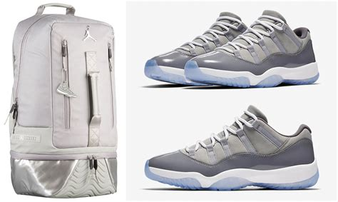 couples jordan 11 c jordan retro 11 low cool grey backpack sneakerfits com