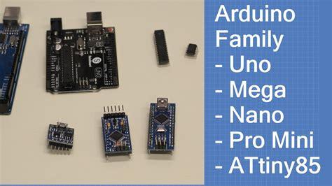arduino family uno mega nano pro mini