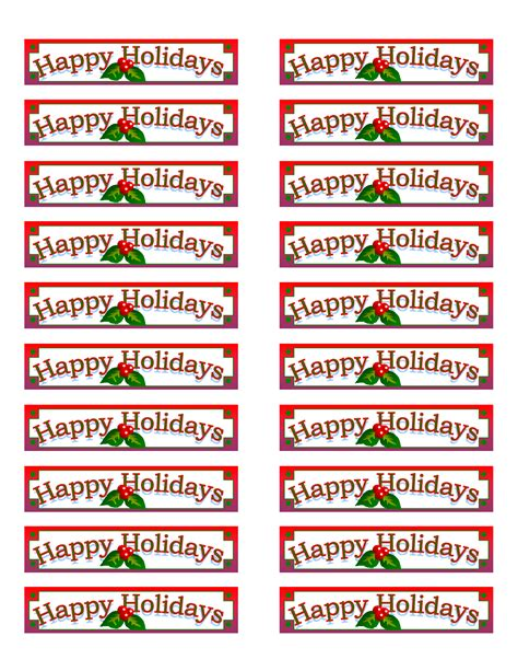 Avery Printable Christmas Address Labels | 7 best images of printable christmas labels avery free